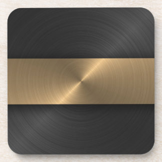 Black And Gold Coaster