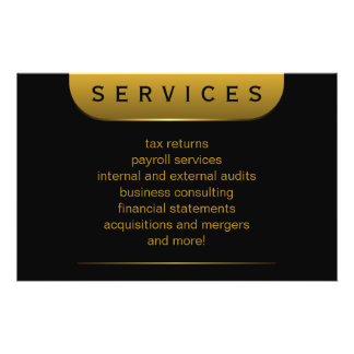 Black and Gold Coins 5 5 x 8 5 Accountant Flyers Personalized Flyer