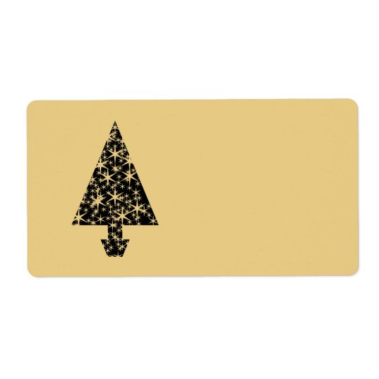 Black and Gold Colour Christmas Tree Design.
