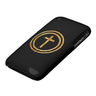 Black and Gold Cross iPhone 3 Case-Mate Case