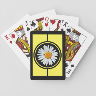 Black and Gold Daisy Amazing Playing Cards