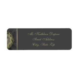 Black and Gold Daisy Monogram