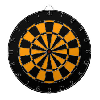 Black and Gold Dartboard