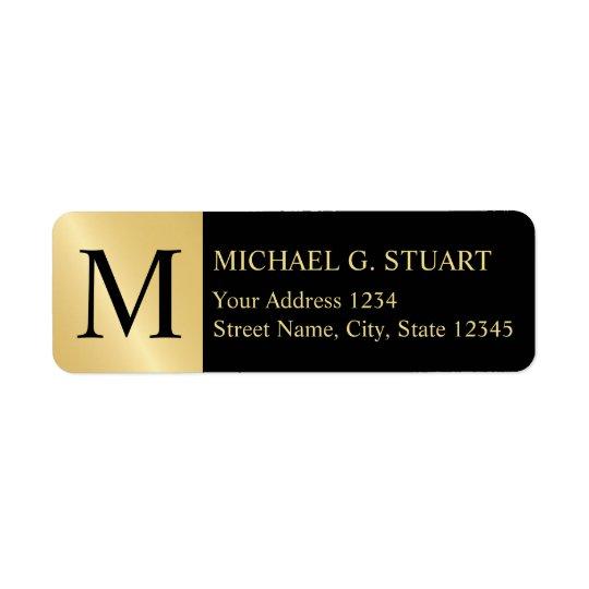 Black and Gold Elegant Monogram