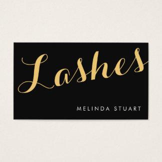 Black and Gold Elegant Typography Makeup Artist Business Card