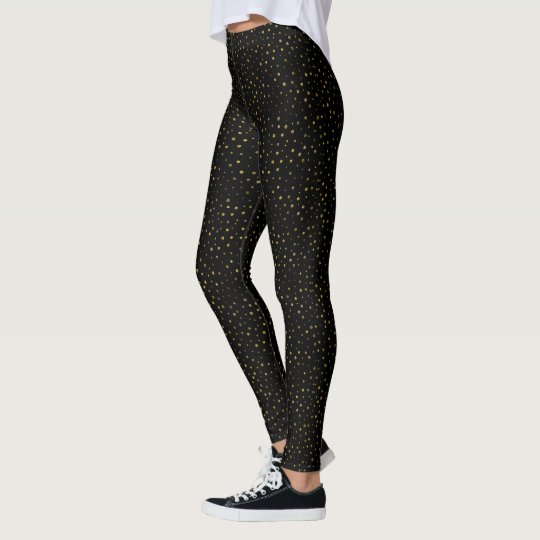 Black and Gold | Faux Foil Dots Dotted