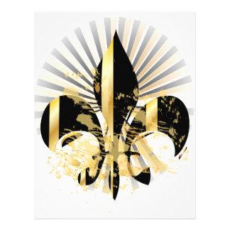 Black and Gold Fleur de Lis 21.5 Cm X 28 Cm Flyer