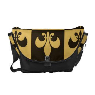 Black and Gold Fleur de lis Commuter Bag