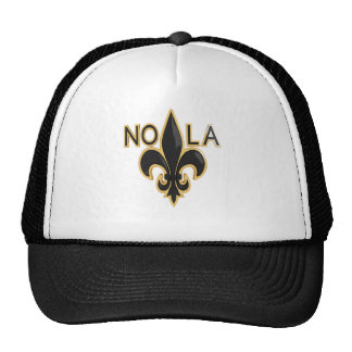 Black and Gold Fleur de Lis - NOLA Cap
