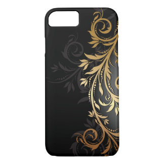 Black and Gold Floral Vine iPhone 8/7 Case