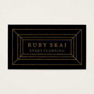 Black and Gold Gemstone Chic Business Card