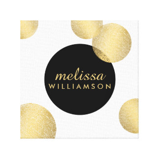 Black and Gold Glamour and Beauty Personalized Canvas Print