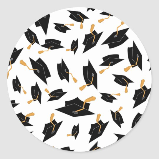 Black and Gold Graduation Stickers