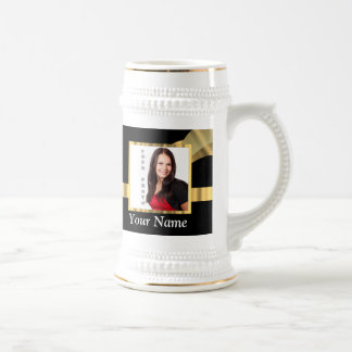 Black and gold instagram template beer stein