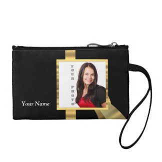 Black and gold instagram template coin purse