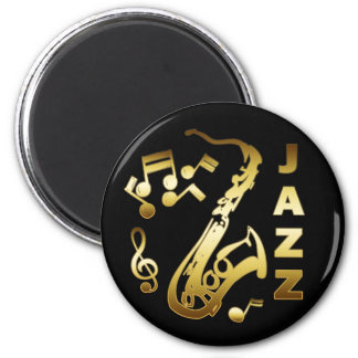 BLACK AND GOLD JAZZ MAGNET