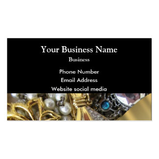Black and gold jewelry collection pack of standard business cards