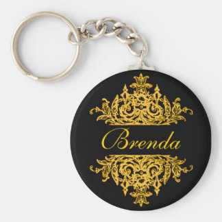 Black and gold key chain