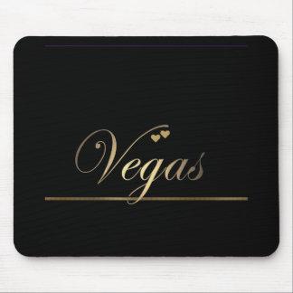 Black and Gold Las Vegas Mouse Mat