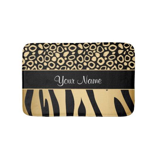 Black and Gold Leopard and Zebra Pattern Bath