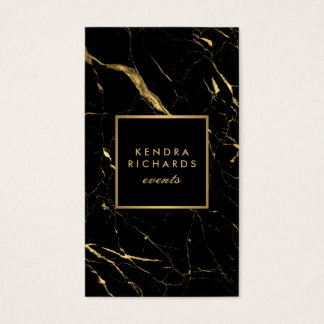 Black and Gold Marble Event Planner