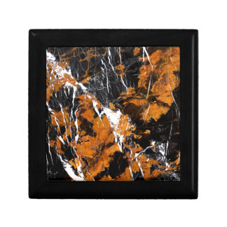 Black and gold marble gift box