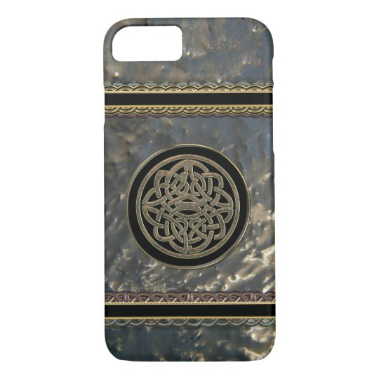 Black and Gold Metal Celtic Knot on iPhone