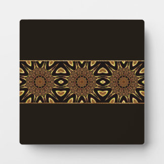 Black And Gold Metallic Pattern Photo Plaques