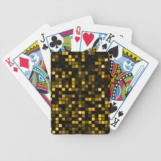 Black And Gold Meteor Shower Squares Pattern Poker Deck