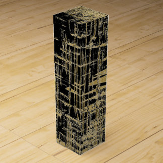 Black and Gold Modern Art Wine Boxes