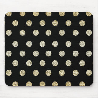Black and Gold Mouse Mat