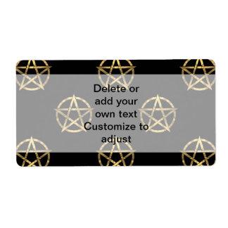 Black and gold pentagram