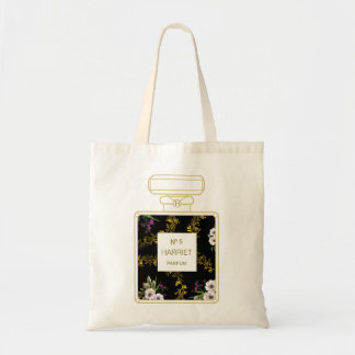 Black and Gold Perfume Tote Bag