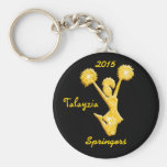 Black and Gold Personalised Cheer Keychains