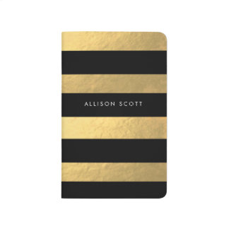 Black And Gold Personalised Journal
