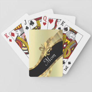 Black and gold personalized mom playing cards