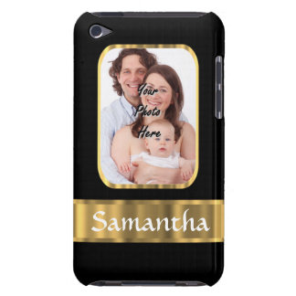 Black and gold photo template iPod Case-Mate case