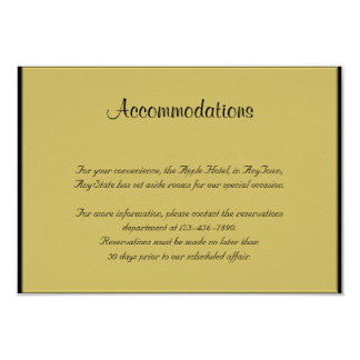 Black and Gold Piano Wedding Insert 9 Cm X 13 Cm Invitation Card