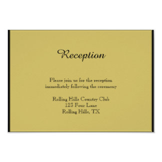 Black and Gold Piano Wedding Reception Card