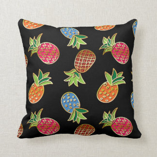 Black And Gold Pineapple Pattern Cushion