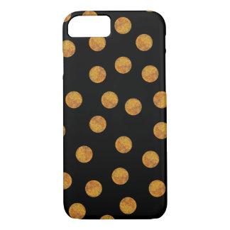 Black and Gold Polka Dot Phone Case