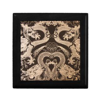 Black and Gold Print Gift Box