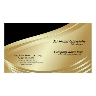 Black and Gold Professional Business Card
