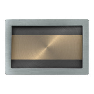 Black And Gold Rectangular Belt Buckle
