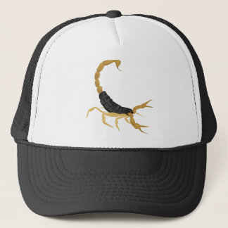 Black and Gold Scorpion Trucker Hat