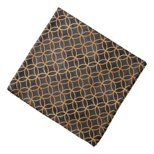 Black and Gold Seamless Pattern Bandana