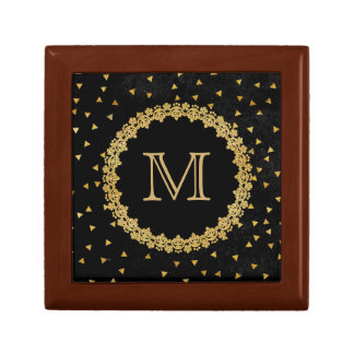 Black and Gold Sparkle Gift Box