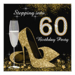 Black and Gold Stepping Into 60 Birthday Party