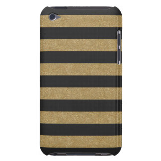 Black and Gold Stripes iPod Touch Case