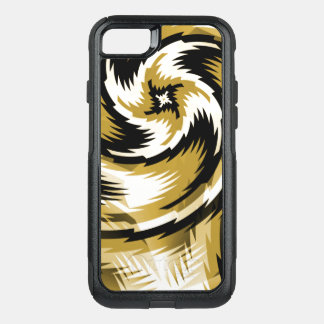 Black and Gold Swirls OtterBox Commuter iPhone 8/7 Case